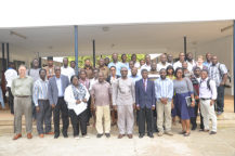 Participants and instructors gathered together at Regional Maritime University at the conclusion of the 2015 summer school