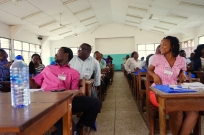 Students in the main lecture room