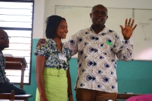 Dr. Lailah Gifty Akita with Dr. Kwasi Appeaning Addo