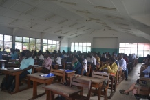 Students in the classroom at the University of Ghana