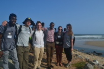 Some of the University of Michigan Student researchers with summer school participant