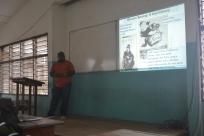 Professor Ebenezer Nyadjro giving a lecture