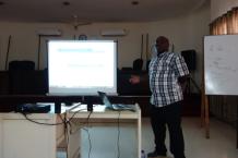 Ebenezer Nyadjro giving a lecture