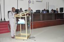 RMU Vice Chancellor Elvis Nyarko speaks at the closing ceremony